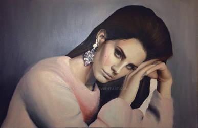 Lana Del Rey in oil WIP
