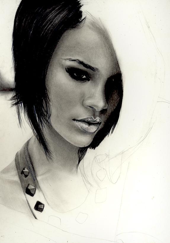 Rihanna WIP by Charlzton