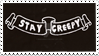 Stay Creepy Stamp by EdenLeeRay