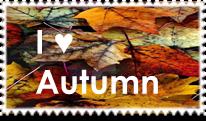 I Heart Autumn Stamp by EdenLeeRay