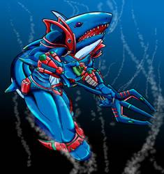 Sawtooth Shark by RavenST