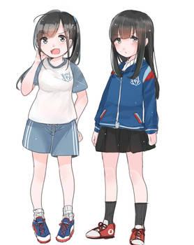 Junior high school girls in Taiwan