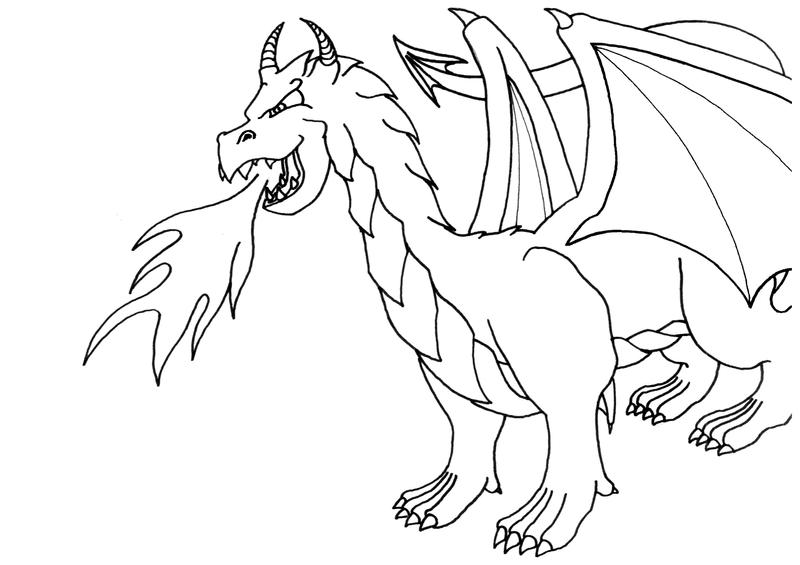 Coloring Page: Dragon By Vithsiny ...