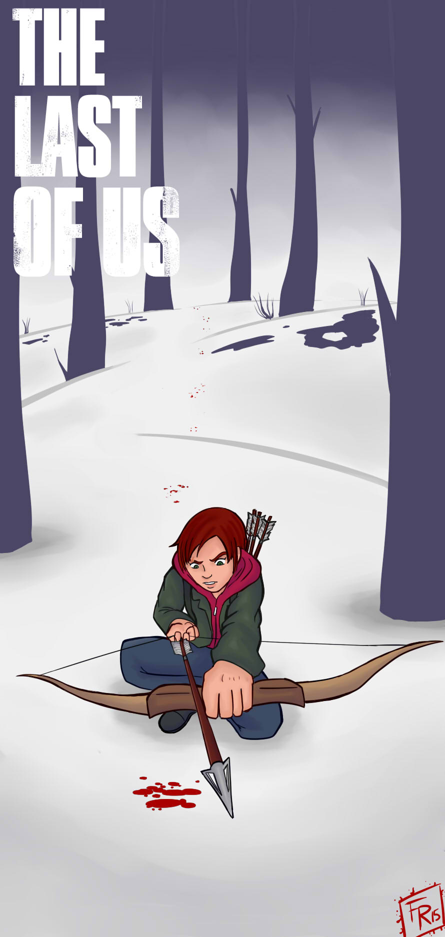 Winter Ellie Bookmark by d4rkslayer