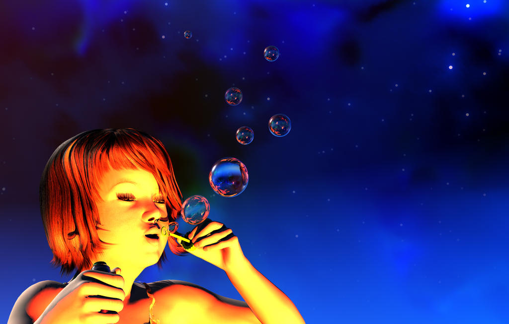 Bubbles And Stars by JohnMo
