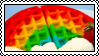 Rainbow waffle by ST4MPS