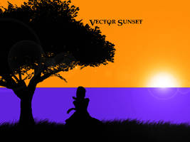 Vector Sunset Wallpaper by Memmus