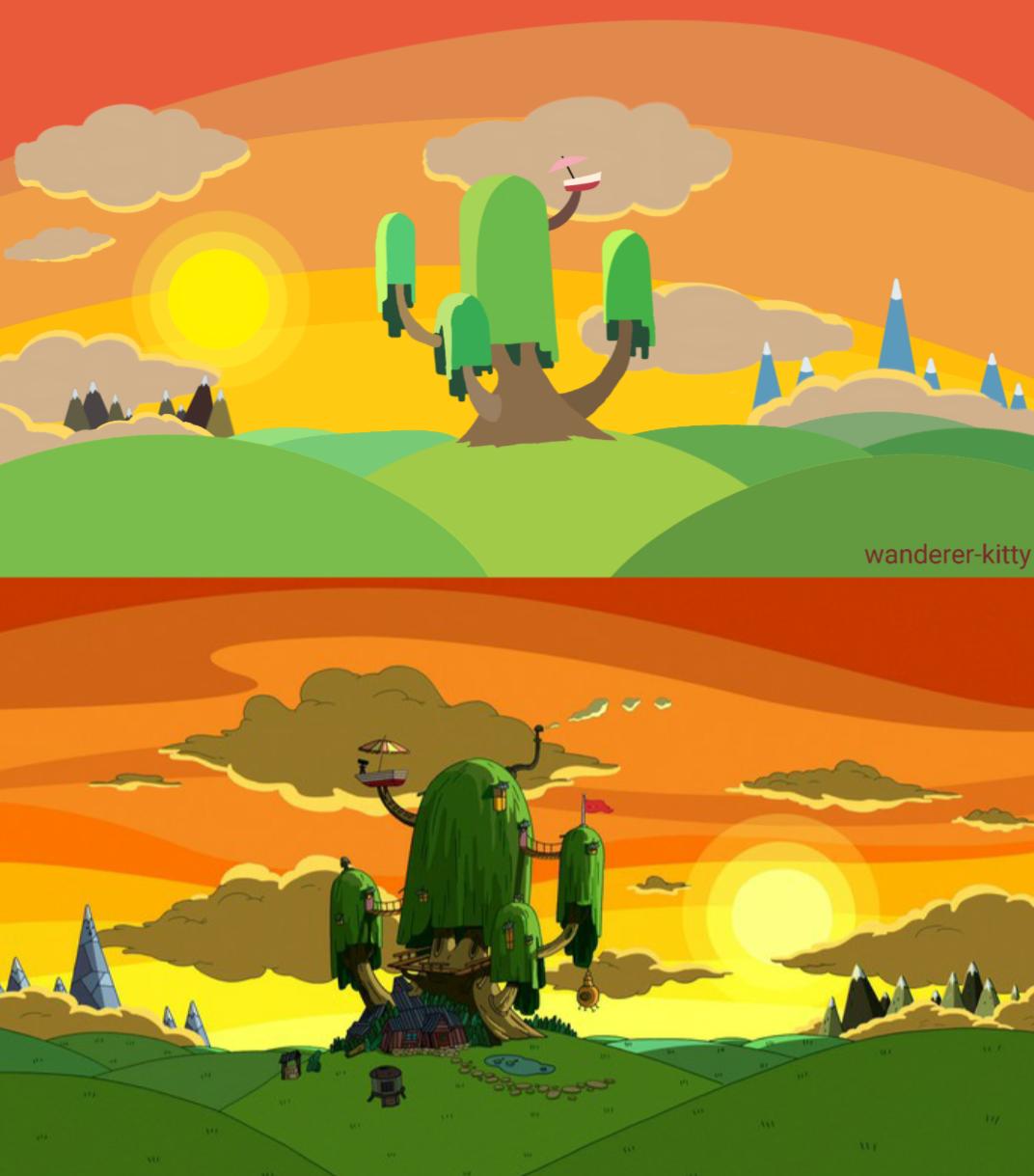 Adventure Time Vector Landscape By Wanderer Kitty On Deviantart