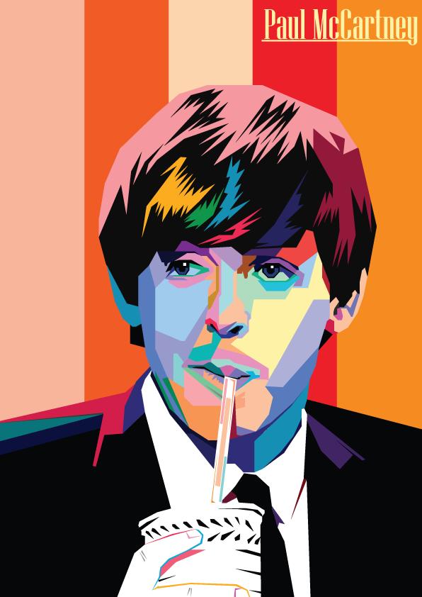 Paul McCartney The Beatles 2 Colored By GinanjarWijaya