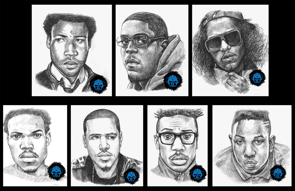 Hip Hop Portraits by Darkjet9