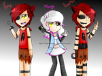 Five Nigths at Freddy's: Human Foxy and Mangle