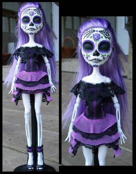 Monster High Custom Spectra 'Day of the Dead' Doll