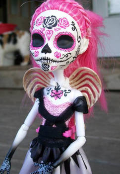 Day of the Dead Monster high Custom Cupid 2