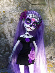 Monster High spectra custom Day of the dead by AdeCiroDesigns