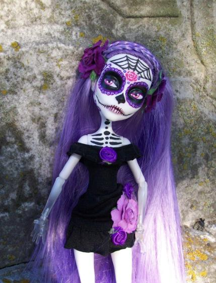 monster high spectra custom day of the dead by adecirodesigns on deviantart. Black Bedroom Furniture Sets. Home Design Ideas