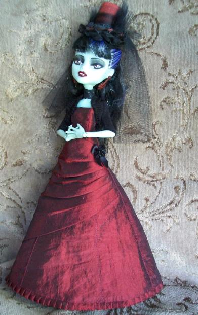 Monster High Custom frankie OOAK Victorian Lady by AdeCiroDesigns