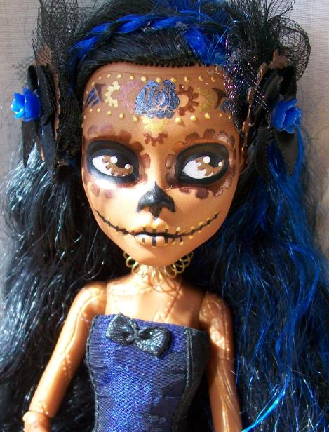 Monster high robecca day of the dead custom 2 by - Poupee monster high robecca ...