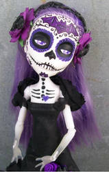 Monster High Custom Day of the Dead Spectra Bat 3 by AdeCiroDesigns