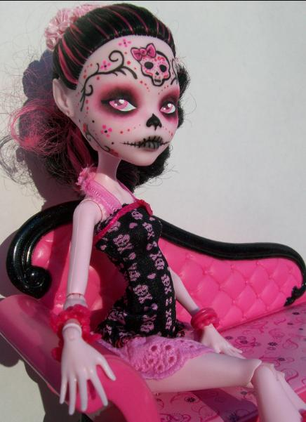 Monster High Day of the Dead Lala Custom by AdeCiroDesigns