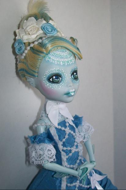 Monster High custom lagoona victorian lace ooak by AdeCiroDesigns