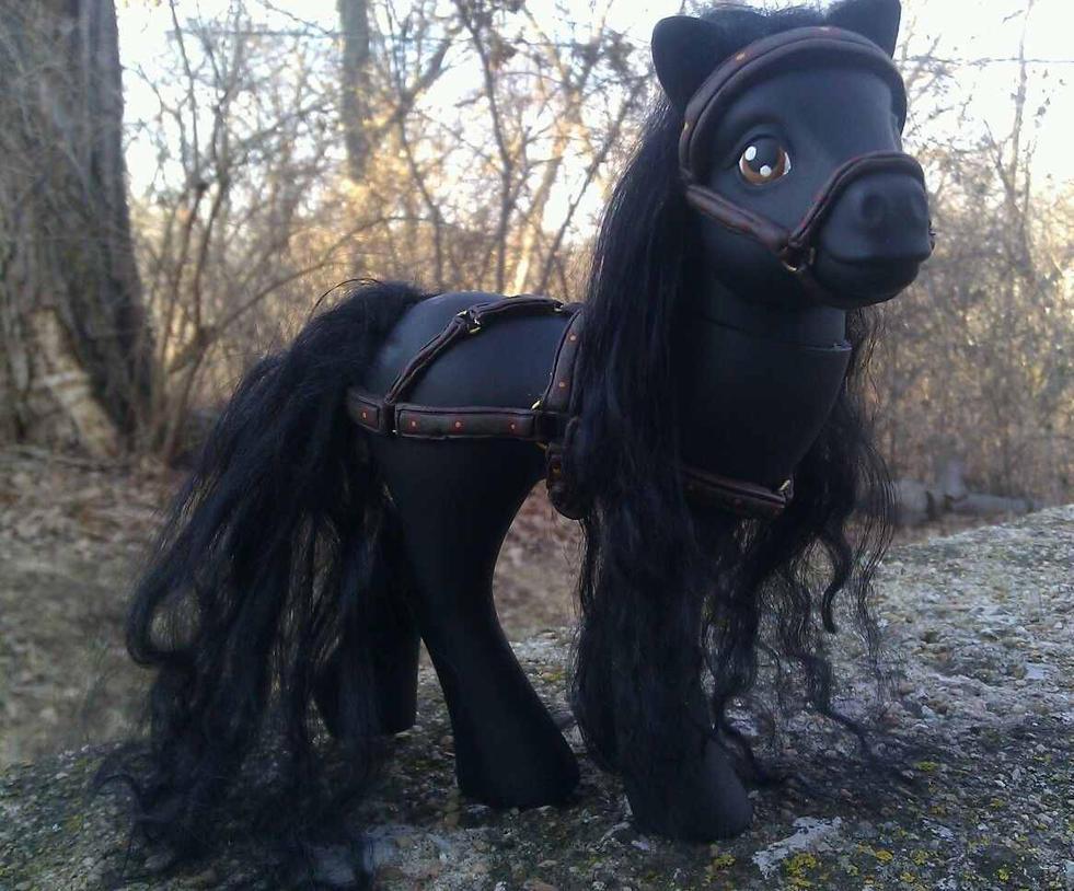 Harnessed G1 Pony Custom by AdeCiroDesigns
