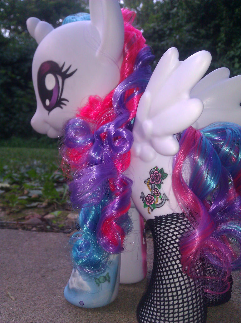 My Little Pony Celestia  Tattoo Style Repaint 2 by AdeCiroDesigns