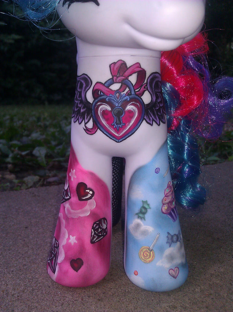 My little pony celestia tattoo style repaint 4 by AdeCiroDesigns