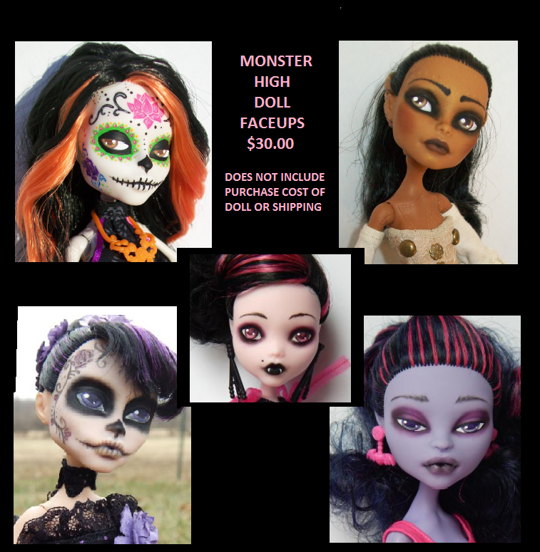 Monster High Faceups Open by AdeCiroDesigns