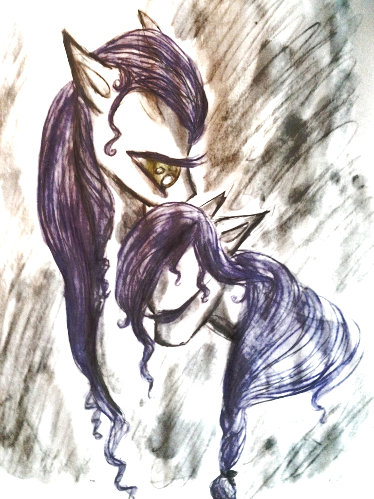Violet embrace by Luted