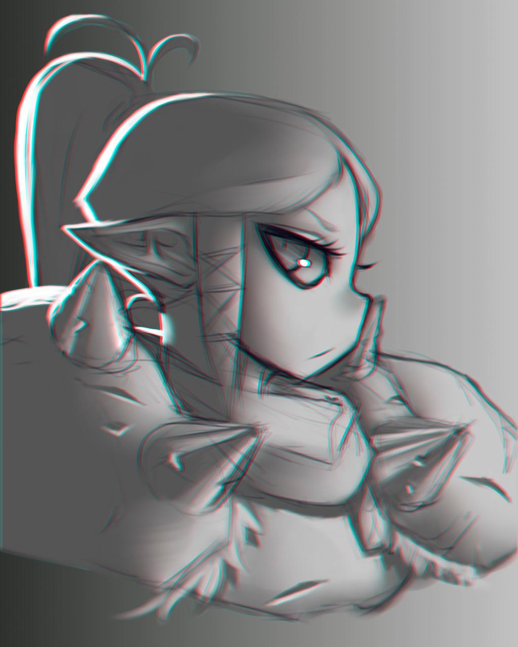 sketch - HEAVY ARMOR by Foraster0