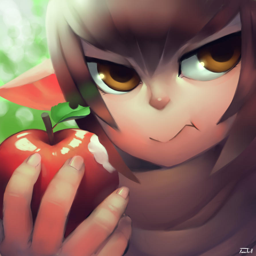 Eating an Apple by Foraster0