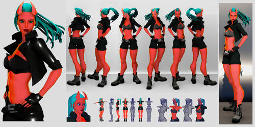 3D- stylized character