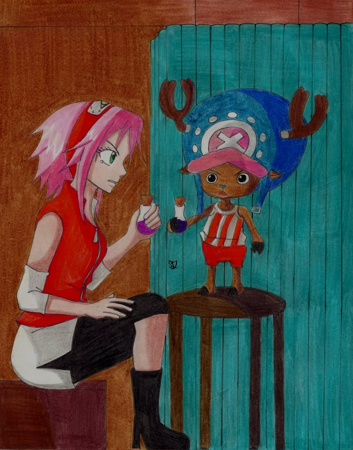 Sakura and Chopper^^ by Lucy-chan90