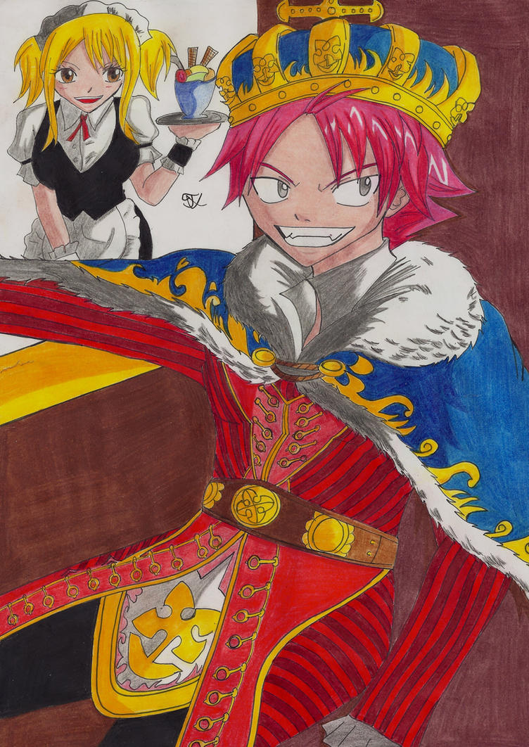 Natsu as King Lucy as Maid Fairy Tail by Lucy-chan90