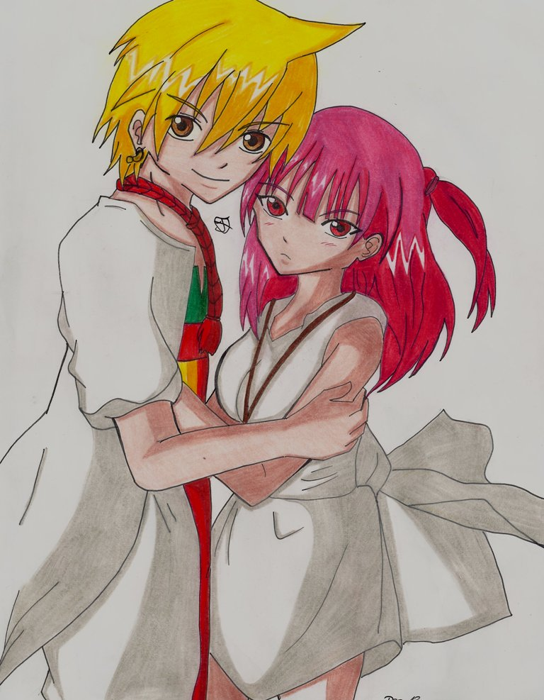 Alibaba and Morgiana Magi by Lucy-chan90