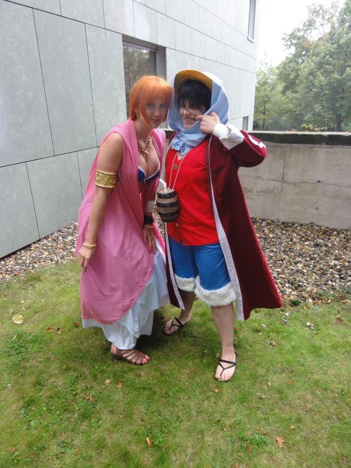 Nami and my dear Luffy Alabasta  Cosplay by Lucy-chan90