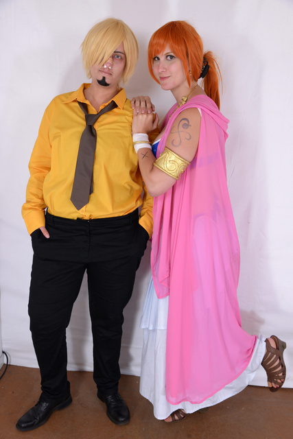 Nami Alabasta Cosplay with Sanji by Lucy-chan90