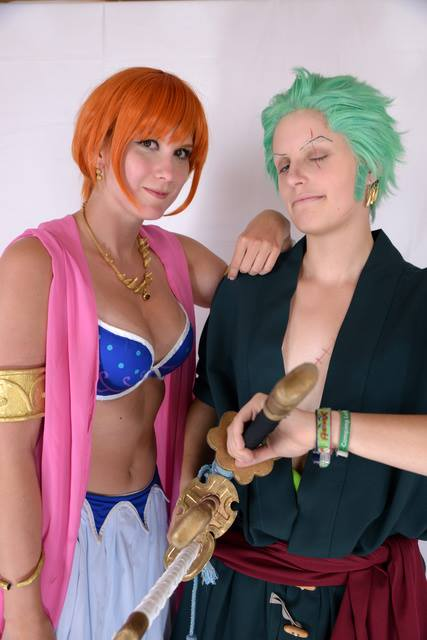 Nami Alabasta Cosplay with Zoro by Lucy-chan90