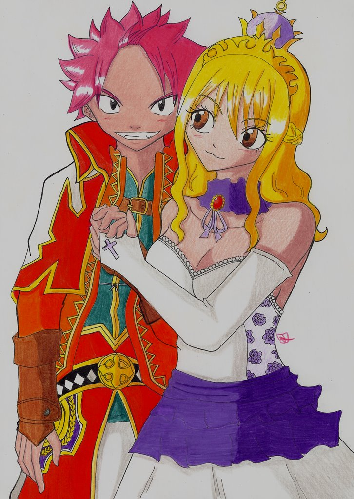 Lucy and Natsu Fairy Tail King Version Artbook by Lucy-chan90