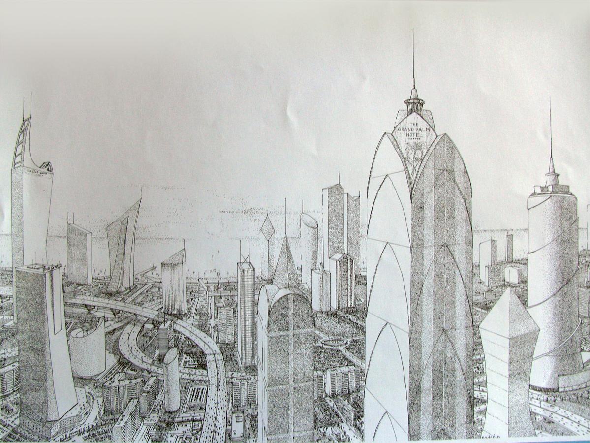 Futuristic city 2 by bazaltique on DeviantArt