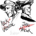 Nick Valentine and Jhon Hancock