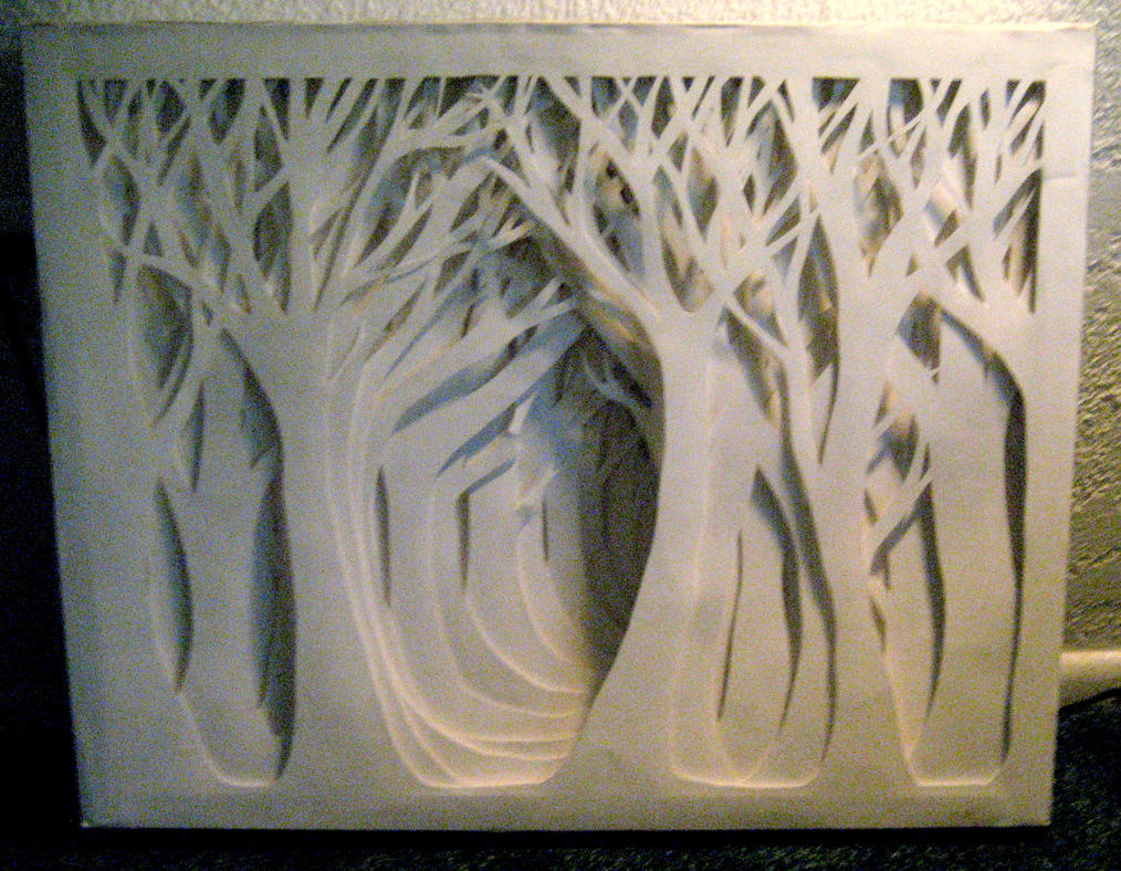 Paper Forest Front View By Moberry Tea On Deviantart