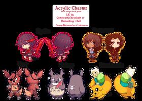 Chupup's acrylic charm batch of 2015