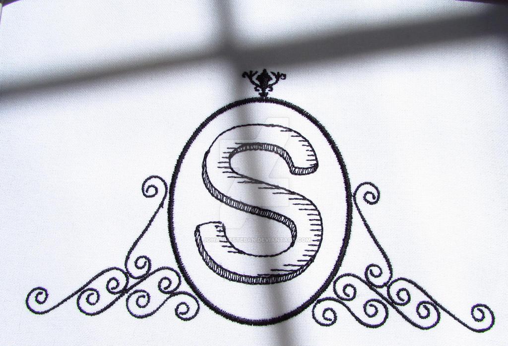 Letter S Monogram Embroidery Design by johannesteban on DeviantArt