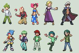 Some old Pokemon Sprites... by IceJkai