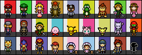 Super Smash Bros. Melee character sprites by IceJkai