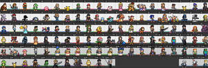 Super Smash Bros. Ultimate - Character Sprites