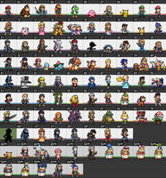 Super Smash Bros. Ultimate - Character Sprites by IceJkai