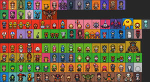Smash Bros Characters sprite - Ultimate and Others by IceJkai