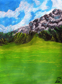 Acrylic Painting-Ancient Foothills